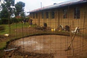 The Water Project: Musudzu Primary School -  Tank Foundation