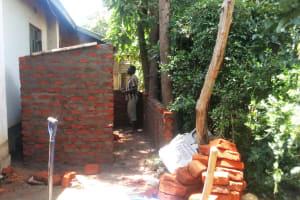 The Water Project: St. Kizito Lusumu Secondary School -  Latrine Construction