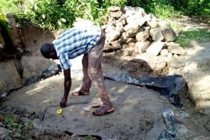 The Water Project: Bukhakunga Community, Indiatsi Omukitsa Spring -  Construction