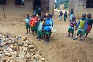 The Water Project: Eshilakwe Primary School -  Tank Construction