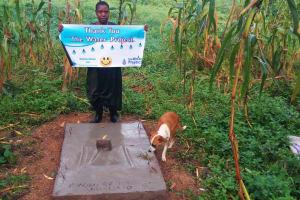 The Water Project: Bushevo Community, David Enani Spring -  Finished Sanitation Platform