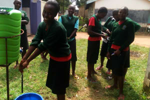 The Water Project: St. Kizito Lusumu Secondary School -  Hand Washing