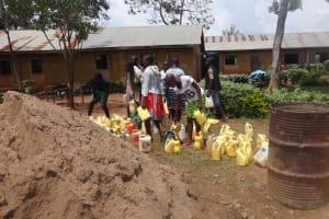The Water Project: Emukangu Primary School, Butere -  Construction Water