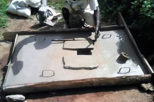 The Water Project: Ebung'ayo Community, Wycliffe Spring -  Sanitation Platform Construction