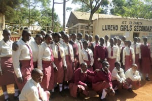 The Water Project: Lureko Girls Secondary School -  Students At Gate