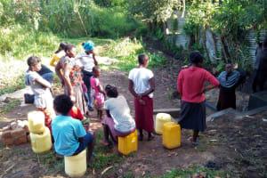 The Water Project: Shikhambi Community, Daniel Inganga Spring -  Training