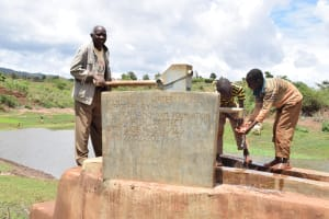 The Water Project: Mbuuni Community A -  Clean Water