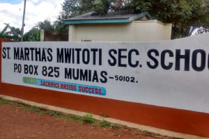 The Water Project: Mwitoti Secondary School -  School Sign