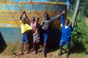 The Water Project: Gidagadi Primary School -  Students Pose At School Gate