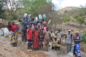 The Water Project: Kithumba Community A -  Community Members Ready With Their Tools