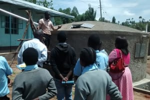The Water Project: Friends Emanda Secondary School -  Tank Management Training