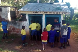 The Water Project: Gidagadi Primary School -  Boy Latrines
