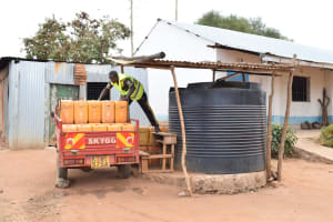 The Water Project: Kithaasyu Secondary School -  Plastic Tank And Water Delivery