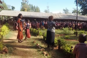 The Water Project: Irenji Primary School -  Students At Morning Assembly