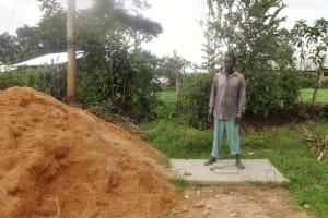 The Water Project: Shikhambi Community, Daniel Inganga Spring -  Sanitation Platform