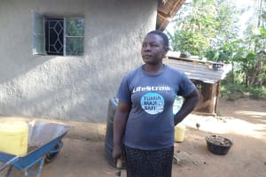 The Water Project: Emusanda Community, Walusia Spring -  Mrs Afula At Her Home