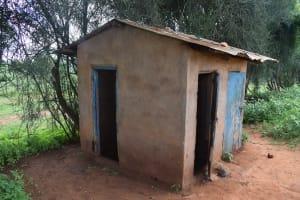 The Water Project: Kyanzasu Primary School -  Girls Latrines