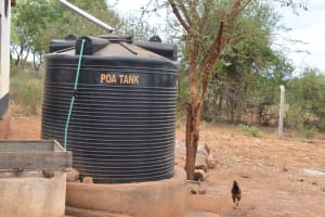The Water Project: Ikaasu Secondary School -  Plastic Tank