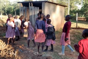 The Water Project: Irenji Primary School -  Girl Latrines