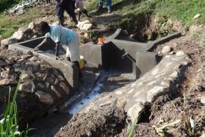 The Water Project: Shitungu Community B, Charles Amala Spring -  Construction