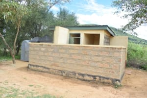 The Water Project: Kwa Kaleli Primary School -  Girls Latrines