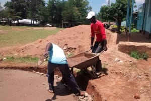 The Water Project: Friends Emanda Secondary School -  Tank Foundation