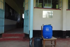 The Water Project: Matete Girls High School -  Hand Washing Station