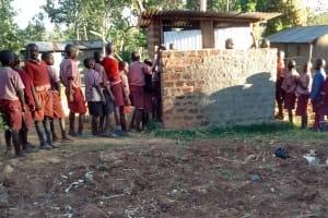 The Water Project: Irenji Primary School -  Boy Latrines
