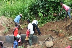 The Water Project: Handidi Community, Matunda Spring -  Spring Protection Construction