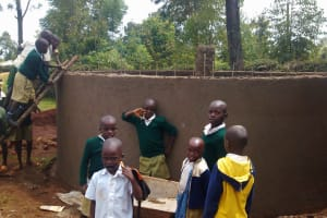 The Water Project: Esibuye Primary School -  Children Curious About The Inside Of The Tank