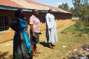 The Water Project: Shanjero Primary School -  Staff And Teachers At Garbage Site