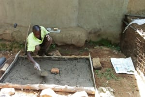 The Water Project: Handidi Community, Matunda Spring -  Sanitation Platform Construction