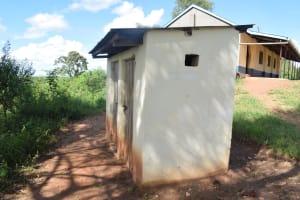 The Water Project: Kyanzasu Primary School -  Staff Latrine