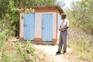 The Water Project: Kivani Primary School -  Staff Latrines