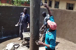 The Water Project: Friends Emanda Secondary School -  Plastering