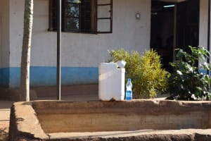 The Water Project: Kithaasyu Secondary School -  Hand Washing Station