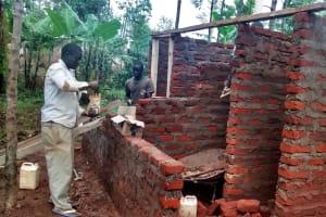 The Water Project: Esibuye Primary School -  Latrine Construction