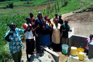 The Water Project: Mukhuyu Community, Shikhanga Spring -  Clean Water