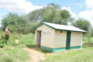 The Water Project: Waita Primary School -  Staff Latrines