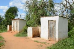 The Water Project: Matheani Secondary School -  Boys Latrines
