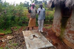 The Water Project: Timbito Community, Atechere Spring -  Sanitation Platform