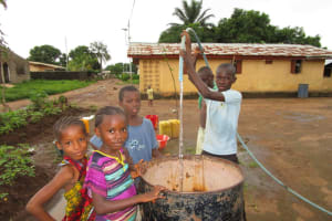 The Water Project: New London, 9 Jalloh Street -  Yield Test