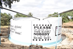 The Water Project: Ngaa Primary School -  Finished Tank