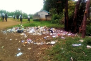 The Water Project: Mwitoti Secondary School -  Garbage Pile