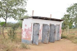 The Water Project: Ikaasu Secondary School -  Girls Latrines