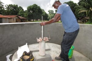 The Water Project: Conakry Dee Community A -  Pump Installation