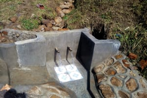 The Water Project: Shivagala Community, Paul Chengoli Spring -  Finished Construction