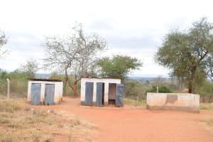 The Water Project: Ikaasu Secondary School -  Boys Latrines
