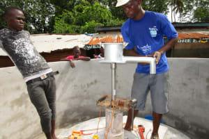The Water Project: Kitonki Community -  Pump Installation