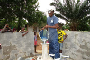 The Water Project: New London, 9 Jalloh Street -  Pump Installation